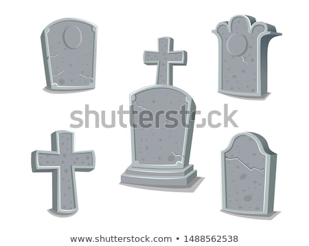 Mezar taşı karikatür vektör ikon mezar taşı oyulmuş Stok fotoğraf © yopixart