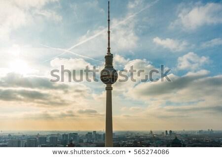 ベルリン テレビ 塔 日没 空 ベクトル ストックフォト © 5xinc