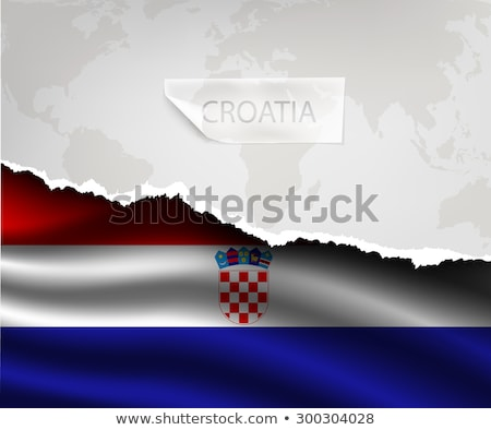 Stock photo: design flag country from torn papers with shadows