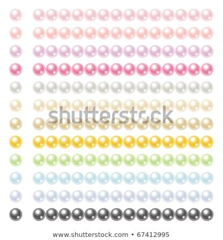 Ketting Blauw roze kralen goud ketens Stockfoto © blackmoon979