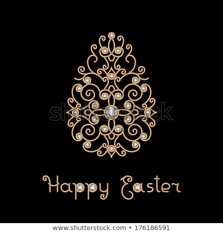 Diamond Easter egg, greeting card, vector illustration Stock photo © carodi