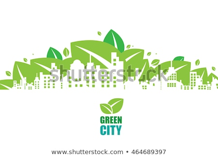 Ecologically clean green city. Stock photo © m_pavlov