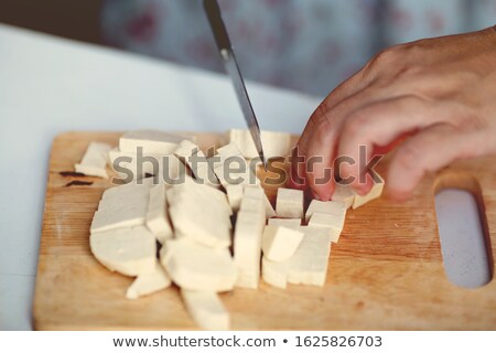 Firm Tofu on a Chopping Board Stock photo © monkey_business