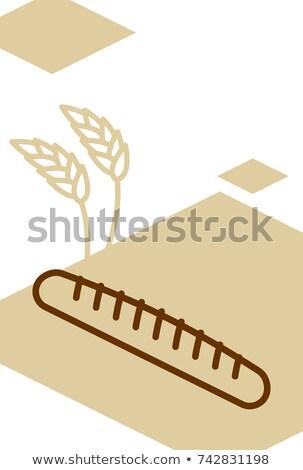 Fırın şablon dizayn poster buğday Stok fotoğraf © popaukropa