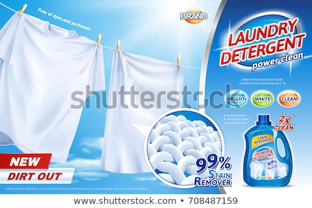 laundry detergent product packaging design with cloth fiber remo Stock photo © SArts