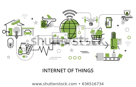 Internet Of Things Logotype Stock photo © ConceptCafe