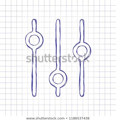 Doodle volume boutons dessinés à la main design graphique Photo stock © pakete