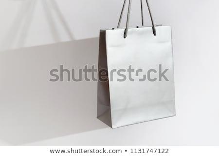 Ezüst vásárlás fekete cipő táska tükröződő Stock fotó © Fisher