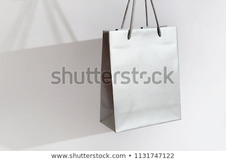 Zilver winkelen zwarte schoen zak Stockfoto © Fisher