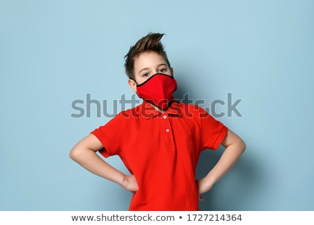 boy wearing blue and red shirt stock photo © bluering