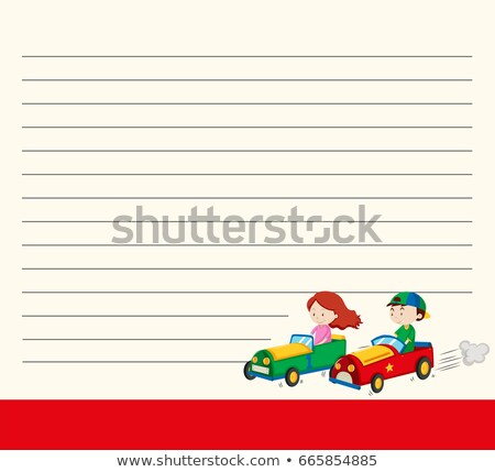 modelo · crianças · corrida · carros · ilustração · criança - foto stock © bluering