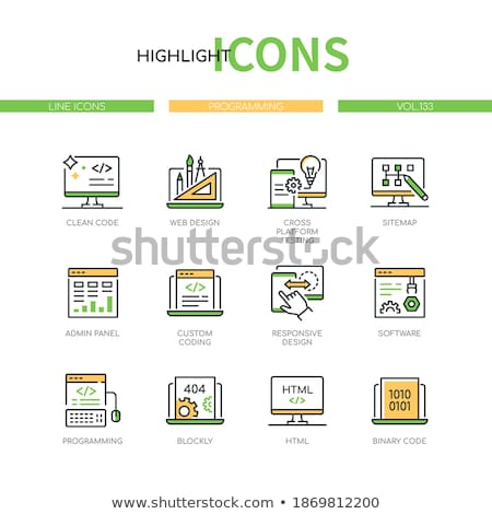 Laptop Screen with Custom Coding Concept. Stock photo © tashatuvango