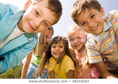 foto · gelukkig · meisjes · knap · glimlachend - stockfoto © zurijeta