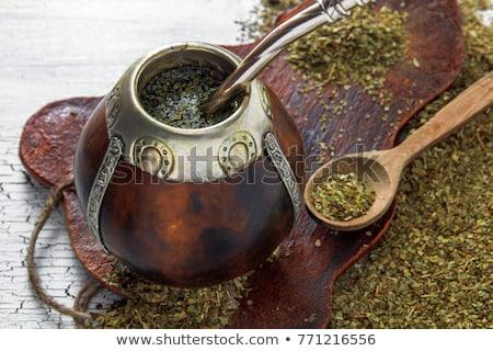 argentinian calabash with yerba mate Stock photo © joannawnuk