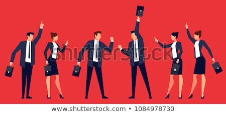 businesswoman and businessman are fighting Stock photo © zurijeta