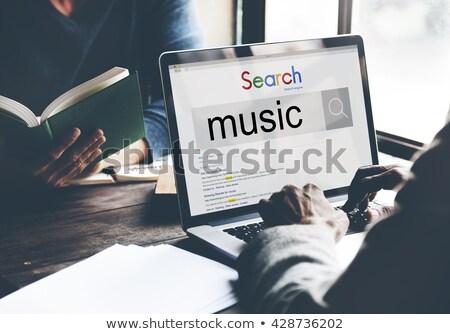 marketing · estratégias · laptop · tela · aterrissagem - foto stock © tashatuvango