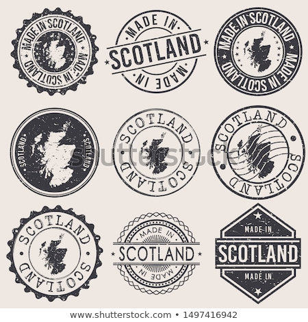 logo for travel to Scotland circle Stock photo © Olena