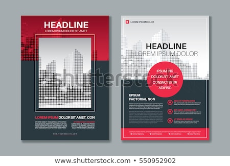 creative brochure design template in A4 size minimal style Stock photo © SArts