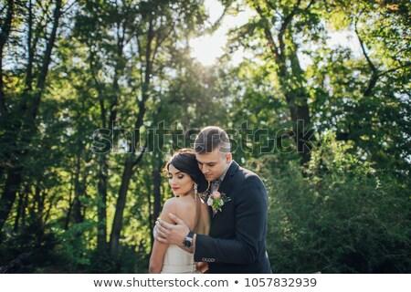 ожидание · свадьба · невеста · сидят · автомобилей · букет - Сток-фото © is2