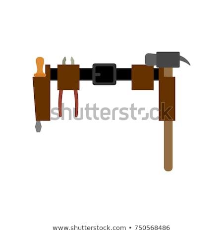 ベルト 孤立した 鍵屋 マスター 手 作業 ストックフォト © popaukropa