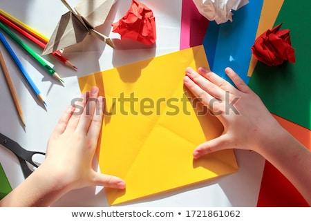 Origami ervaring creativiteit vorm handen Stockfoto © Olena