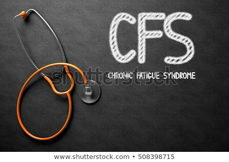 Chalkboard with CFS. 3D Illustration. Stock photo © tashatuvango