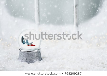 snow globe with toy truck stock photo © stephaniefrey