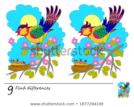 game find 9 differences count Stock photo © Olena