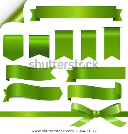 groß · Set · Band · Bogen · transparent · Gradienten - stock foto © barbaliss