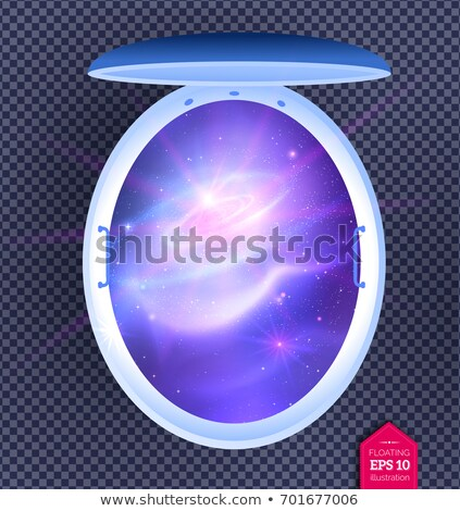 floating tank with outer space inside Stock photo © Sonya_illustrations
