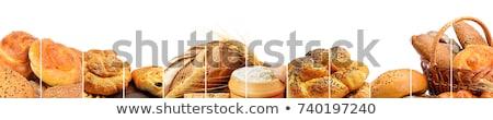 colección · pan · productos · aislado · pan · blanco - foto stock © alinamd