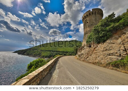 Winding towers in the countryside Stock photo © Ustofre9