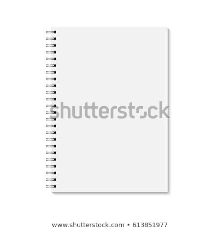Vintage · спиральных · тесные · ноутбук · грубая · оберточная · бумага · охватывать - Сток-фото © daboost