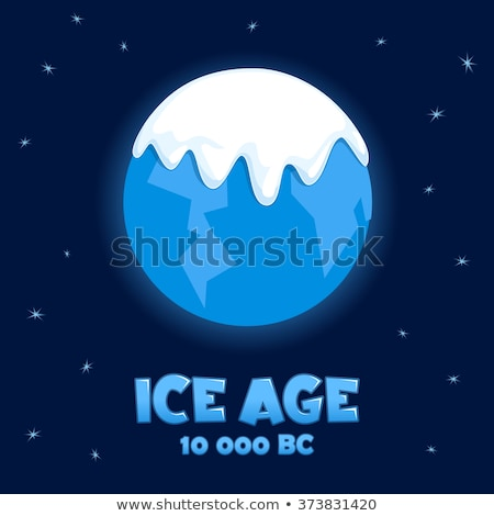 Ice cold planet. Blue Star with ice. Vector illustration. Stock photo © popaukropa