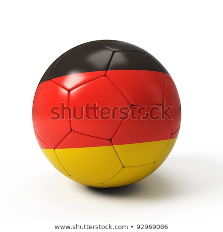 soccer ball on German flag background Stock photo © ssuaphoto