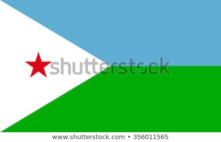 Джибути флаг белый дизайна зеленый звездой Сток-фото © butenkow