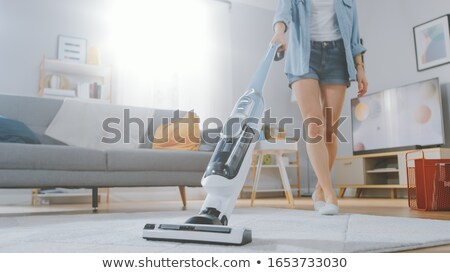 Housewife with a vacuum cleaner, closeup shot Stock photo © Nobilior