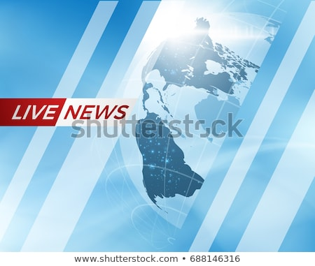 Live Breaking News Can be used as design for television news or Internet media. Vector Stock photo © m_pavlov