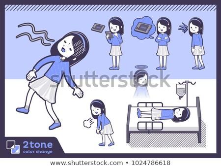 2tone type blue clothes headband girlset 10 stock photo © toyotoyo