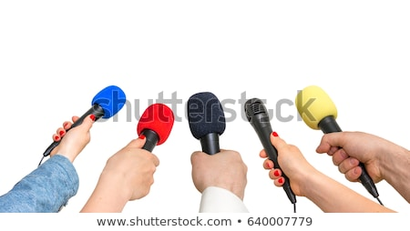 many microphones interview background Stock photo © studiostoks