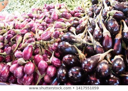 Heap of small eggplant or aubergine Stock photo © Melnyk