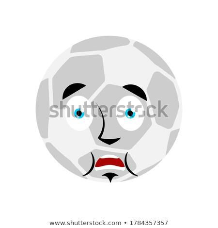Futballabda ijedt omg futball labda enyém Stock fotó © popaukropa