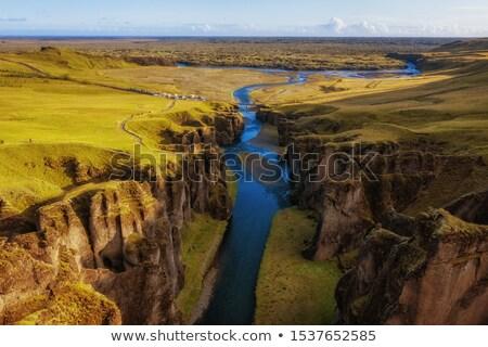 ストックフォト: 川 · ボトム · 峡谷 · アイスランド · 美しい