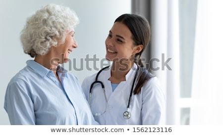 患者 祖母 セット インターネット 図書 ストックフォト © toyotoyo