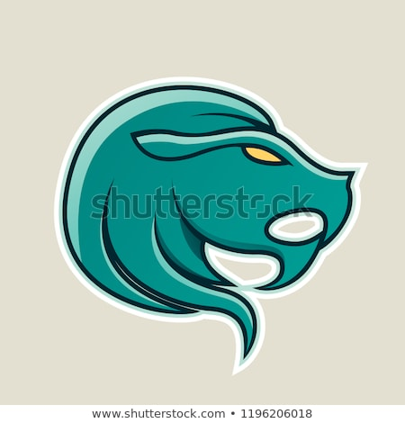 persian green lion or leo icon vector illustration stock photo © cidepix