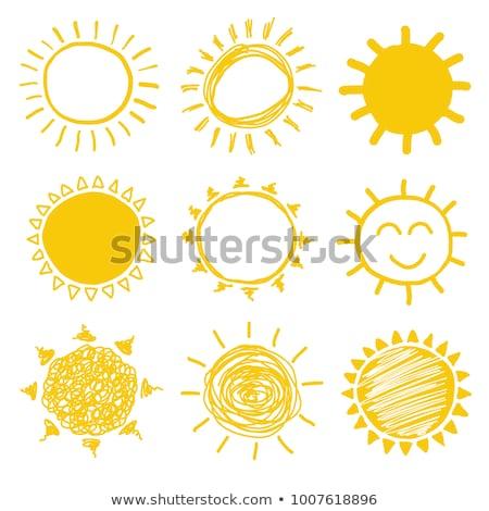 abstrato · amarelo · céu · sol · luz - foto stock © cidepix