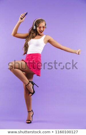 Foto stock: Retrato · feliz · enérgico · mulher · 20s