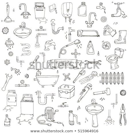 meubels · schets · schets · doodle - stockfoto © rastudio