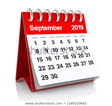 2019 year. Calendar for September. Isolated 3D illustration Stock photo © ISerg