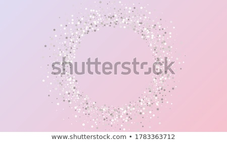 Stock photo: Celebration party banner. Golden and silver foil confetti and flag garland. Vector illustration